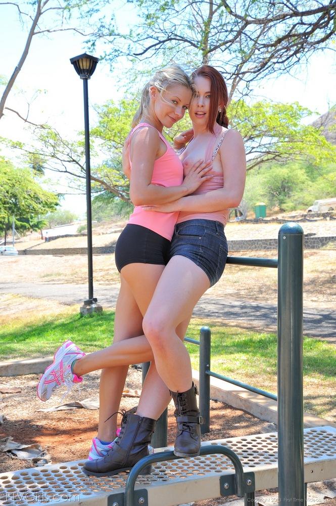 Little april lesbian